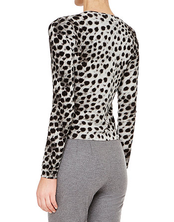 Spandex Twin Set With Animal Print