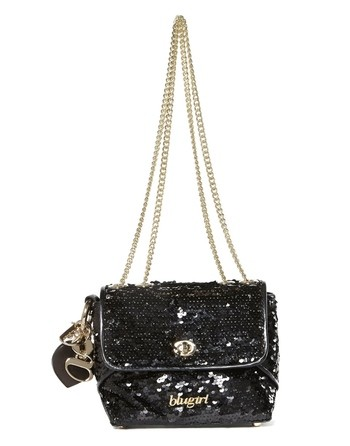 Faux Leather And Sequins Crossbody Bag