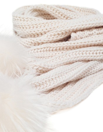 Wool And Cashmere Scarf With Pom Pom