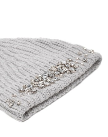 Wool And Cashmere Hat With Swarovski Embroidery