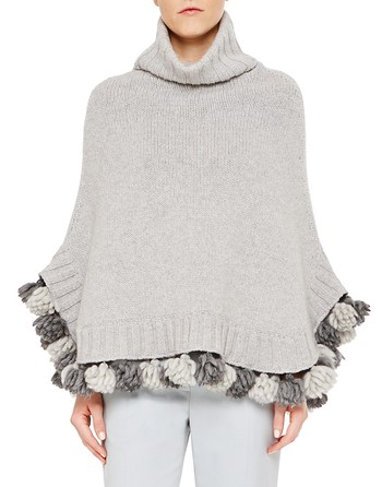 Wool And Cashmere Cape With Tassels