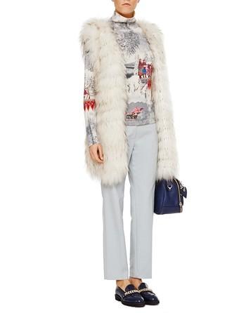 Suéter De Spandex Con Estampado De Motivos Invernales