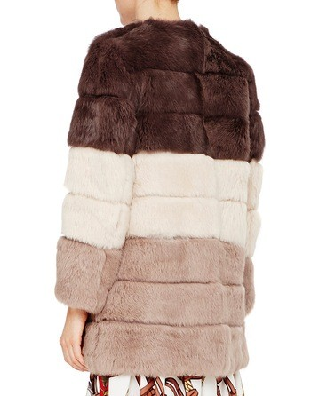 Faded Rabbit Fur Coat