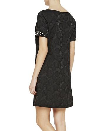 A-line Floral Jacquard Dress