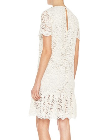 Lace Dress With Jewel Embroidery