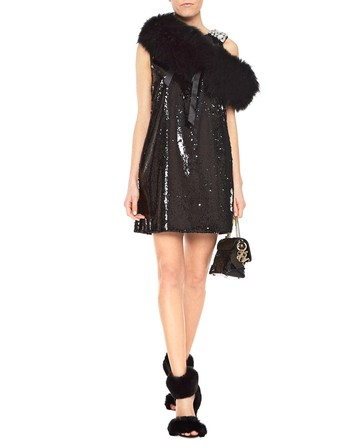 Mini Dress With Sequins