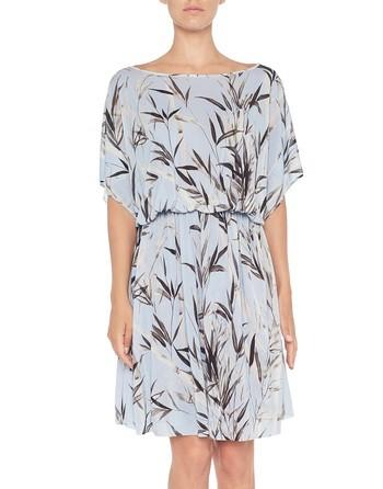Трикотажное платье-кафтан с бамбуковым принтом