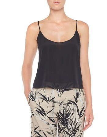 Cropped-top Aus Seide
