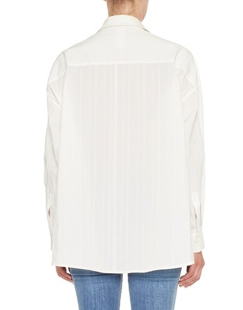 Blusa Over In Cotone Con Nervature