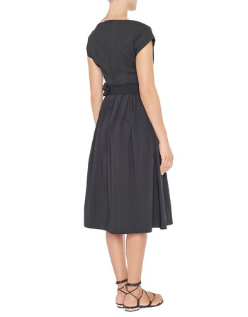 Cotton Dress With Ribbing