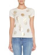 T-shirt With Laminated Polka Dots