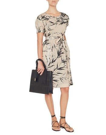 Bamboo Print Cotton Dress