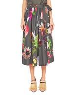 Floral Print Cotton Skirt
