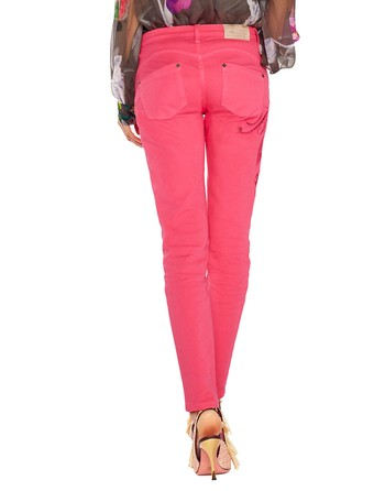 Jeans Cinque Tasche Skinny Con Ricamo