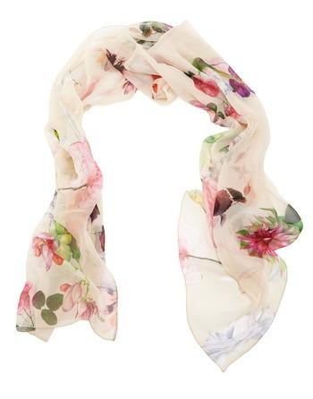 Шёлковая шаль с цветочным принтом