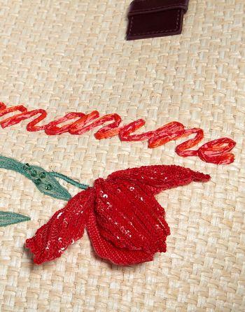 Сумка-шоппер из плетёной рафии