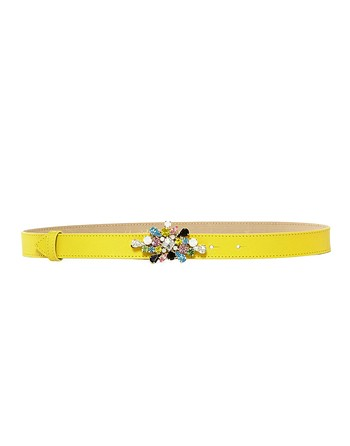 Belt With Multi-Coloured Jewel Buckle