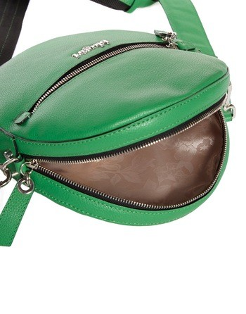 Smooth Leather Round Crossbody