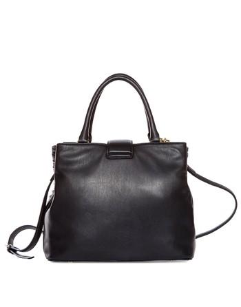 Embossed Eco-leather Bucket Bag