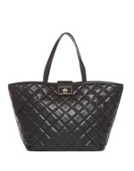 Quilted Eco-leather Shopper Bag