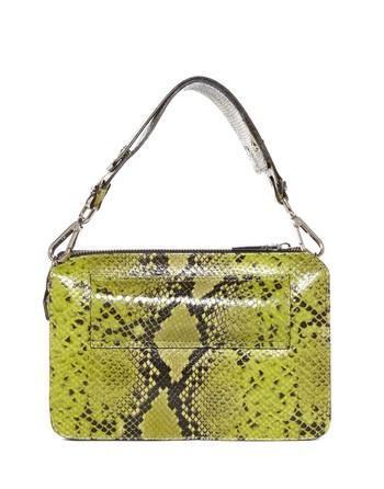 Leather Reptile Print Shoulder Bag