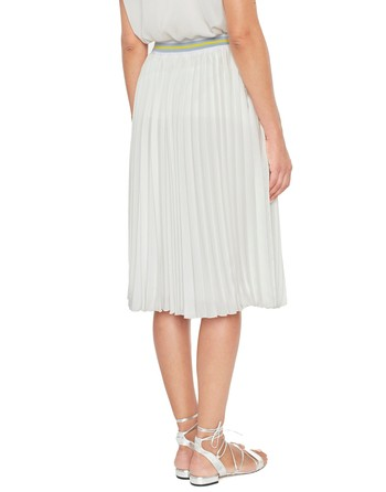 Pleated Skirt With Sporty Trims