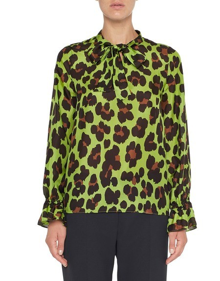Blusa de seda con estampado animal