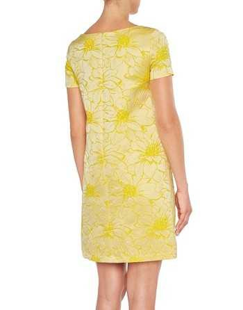 Flowery Jacquard Dress