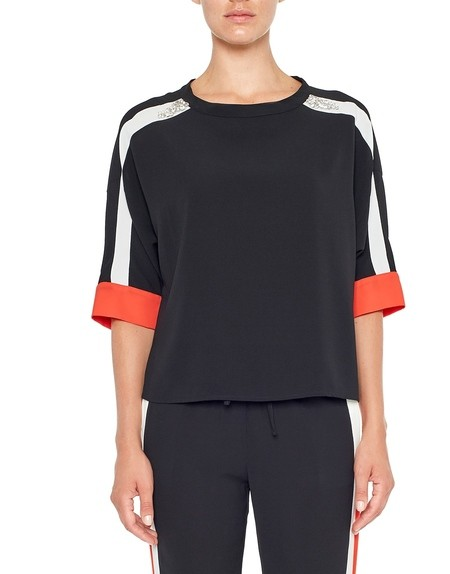 Blusa Sporty in Crêpe de Chine