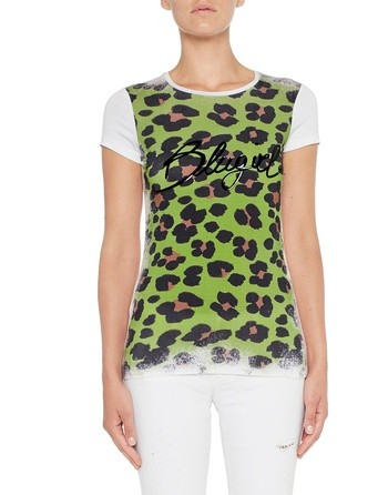 Camiseta De Punto Con Estampado Animal