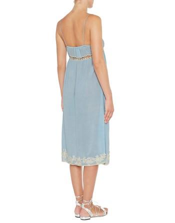 Viscose Dress With Lace