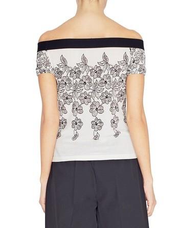 Floral Print Short-sleeved Jumper