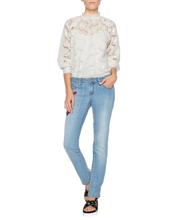 Broderie Anglaise Rose Blouse