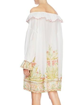 Mini Dress In Cotone Con Ricamo Etnico
