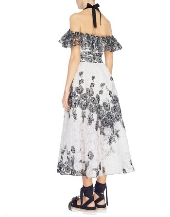 Organza Dress With Embroidered Daisies