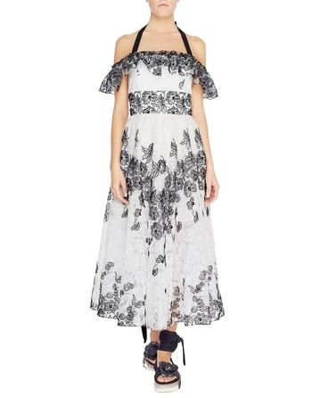 Платье из органзы с вышитыми ромашками