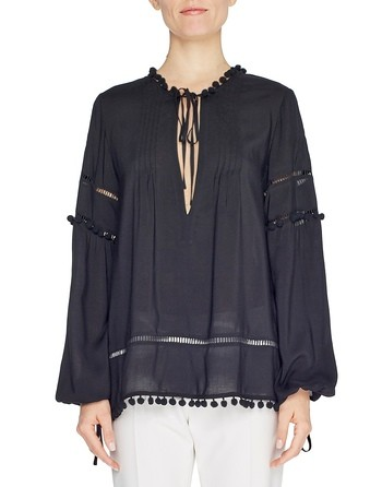 Viscose Blouse With Braiding