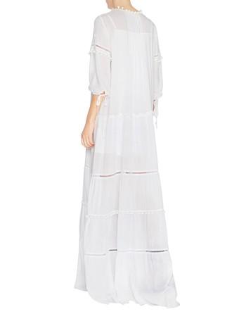 Long Viscose Dress With Braiding