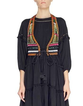 Viscose Gilet With Ethnic Patterns