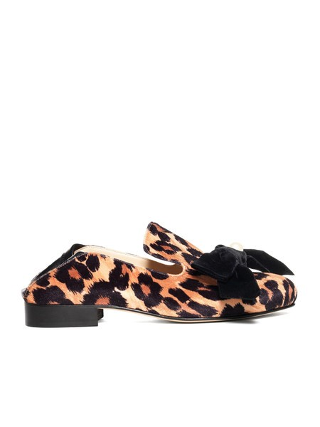 Loafer in Velluto Stampa Animalier