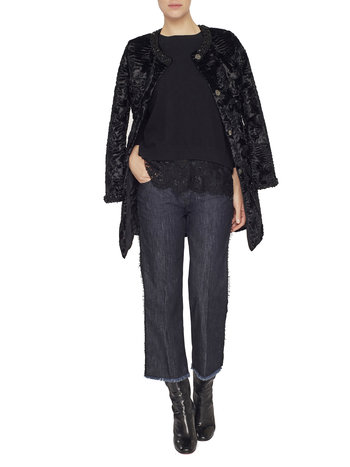 Jumper With Lurex Lace
