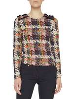 Weaving Print Jumper With Ruching