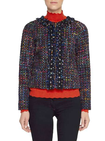 Bouclé Jacket With Embroidery