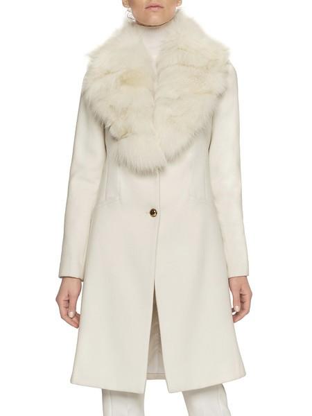 Mantel Mit Fuchsfellkragen