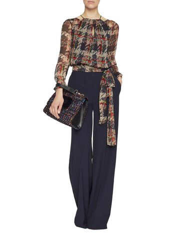 Twill Stretch Weaving Print Jumpsuit