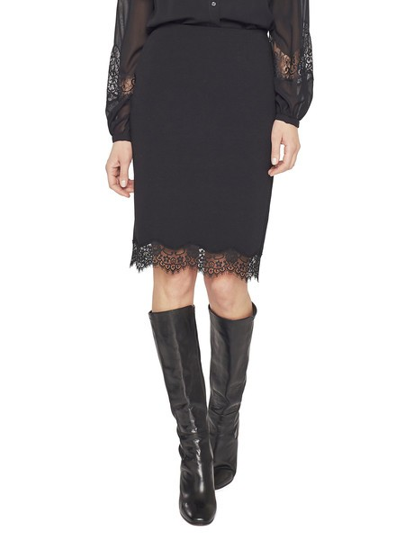Jersey And Lace Skirt