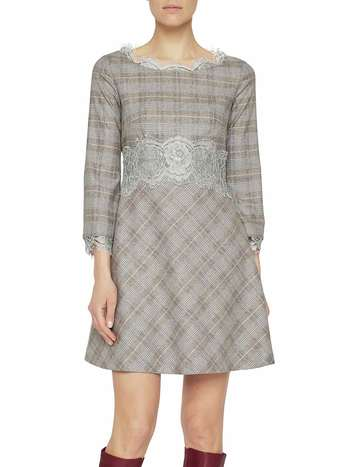 Check Print Flannel Dress