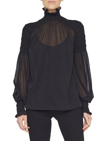 Blusa in Georgette di Seta