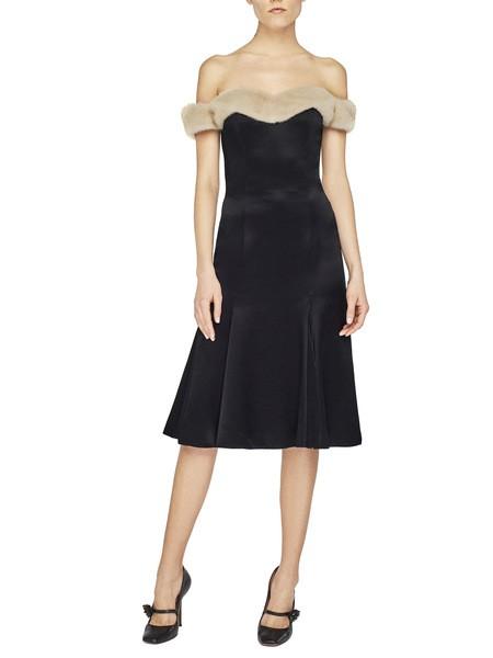 Платье-бюстье с норкой