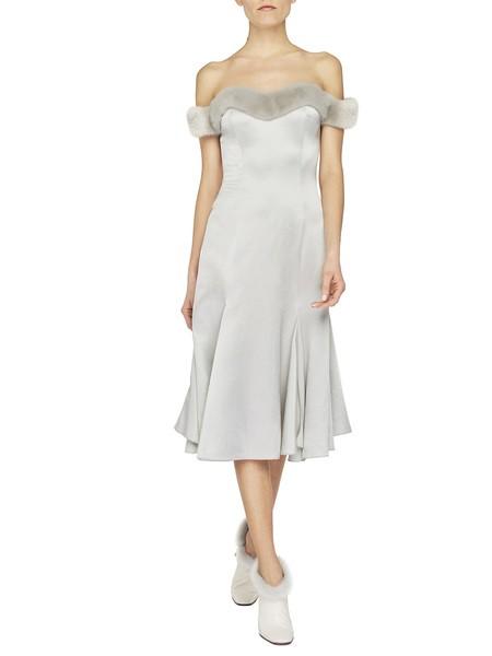 Bustier Dress With Mink Fur